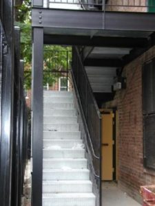 diamond plate galvanized steel staircases