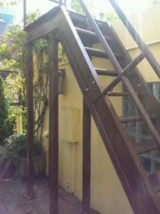 exterior steel staircases with supports