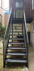 exterior steel stairs