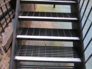 metal stairs grating steps