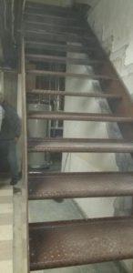 open tread flush mount bolt metal steps