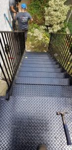 diamond plate metal stairs steps